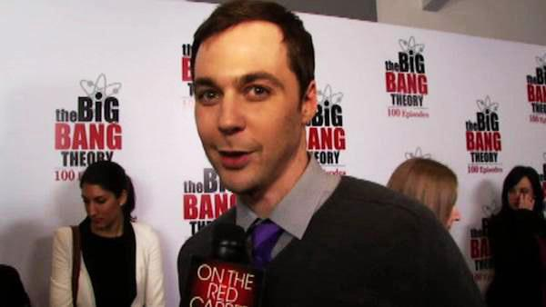 Jim Parsons talks to OnTheRedCarpet.com on Dec. 15, 2011 at a Los Angeles party to celebrate the 100th episode of CBS series 'The Big Bang Theory.'