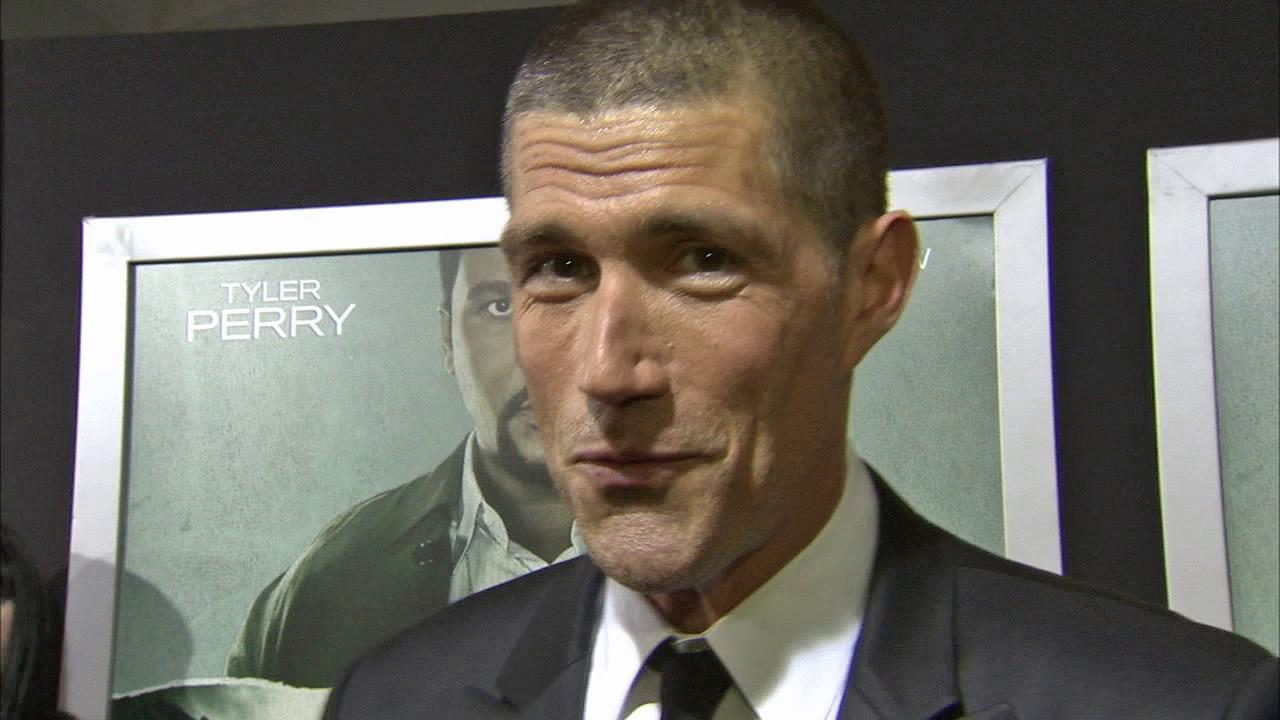 Matthew Fox appears talking to OTRC.com at the Oct. 15, 2012  premiere of his action thriller Alex Cross.
