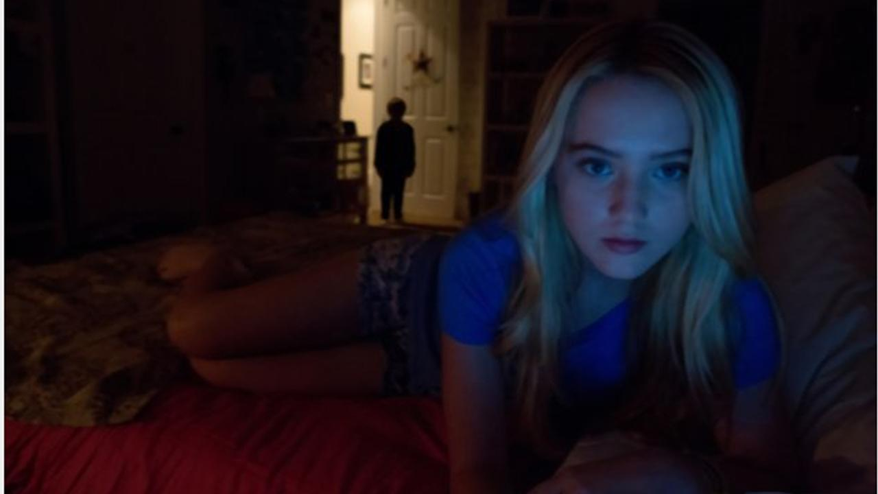 Kathryn Newton appears in a scene from the 2012 film Paranormal Activity 4.