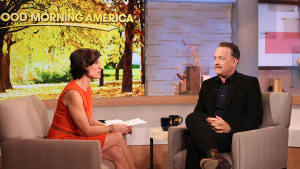 Elizabeth Vargas interviews Tom Hanks on ABCs Good Morning America on Oct. 19, 2012. - Provided courtesy of ABC