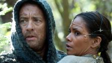 Tom Hanks appears as Zachry and Halle Berry appears as Meronym in a scene from the 2012 movie Cloud Atlas. - Provided courtesy of Jay Maidment / Warner Bros. Pictures