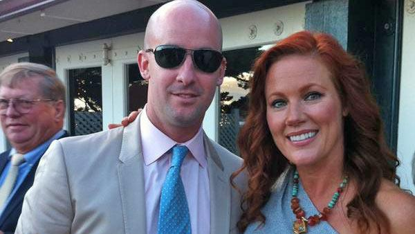 Elisa Donovan and Charlie Bigelow appear in a photo posted on the actress' official Twitter page on October 13, 2012.