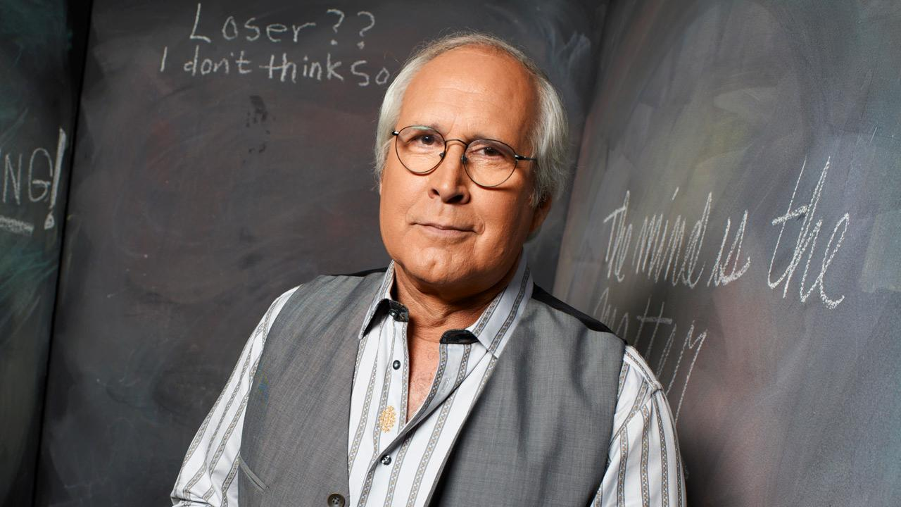 Chevy Chase appears in a 2010 still from the second season of Community.