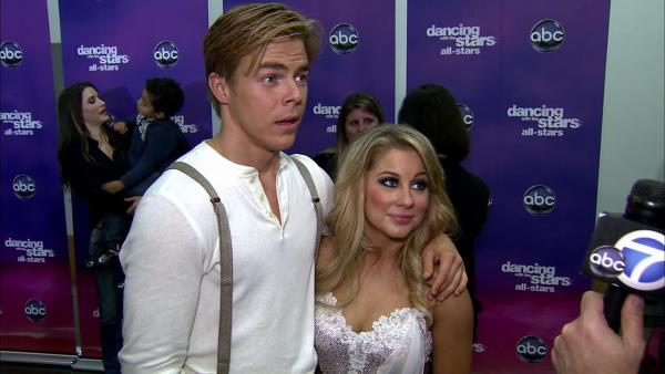 Shawn Johnson, Derek Hough talk 'DWTS' week 5