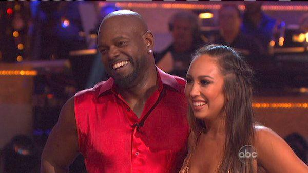 Emmitt Smith and Cheryl Burke appear in a still from 'Dancing With The Stars: All-Stars' on October 22, 2012.