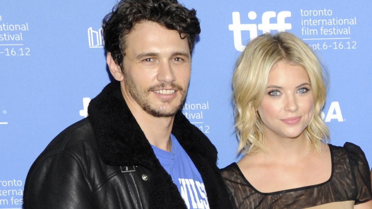 James Franco and Ashley Benson participate in a photo call and press conference for the film Spring Breakers at TIFF Bell Lightbox during the Toronto International Film Festival on Friday Sept. 7, 2012 in Toronto.