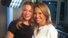 LeAnn Rimes appears with Katie Couric in this photo posted on the talk show hosts Twitter page on Oct. 21, 2012. - Provided courtesy of twitter.com/katiecouric
