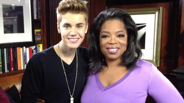 Justin Bieber and Oprah Winfrey appear in a photo posted on the media moguls official Instagram page on October 24, 2012. - Provided courtesy of instagr.am/p/RLLncQyS8N/