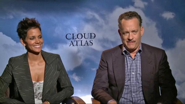 Tom Hanks and Halle Berry appear in an interview for Cloud Atlas with OTRC.com on October 16, 2012. - Provided courtesy of OTRC