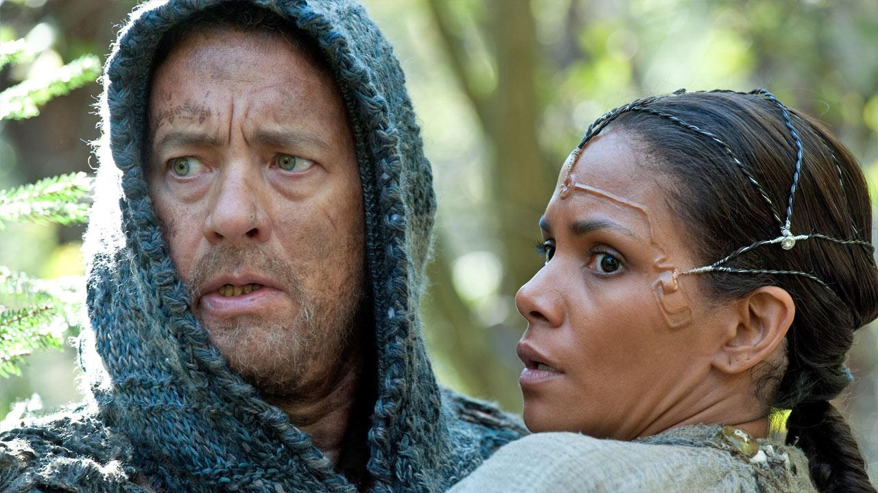 Tom Hanks and Halle Berry appear in a scene from the 2012 film Cloud Atlas.