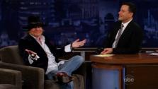 Axl Rose appears on ABCs Jimmy Kimmel Live on Oct. 24, 2012. - Provided courtesy of ABC