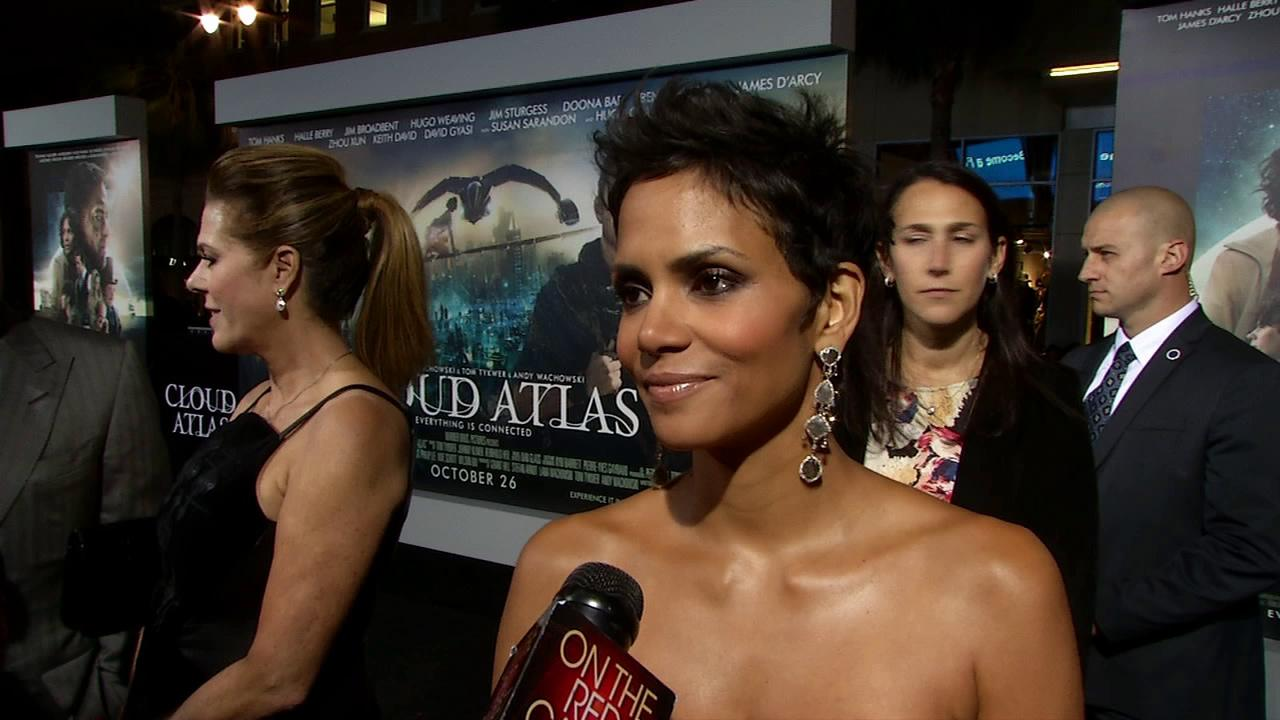 Halle Berry talks to OTRC.com at the Los Angeles premiere of Cloud Atlas on October 24, 2012.