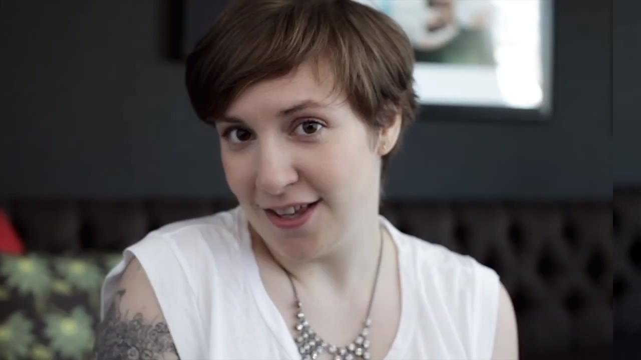 Lena Dunham appears in a still from her Barack Obama endorsement ad, My First Time.
