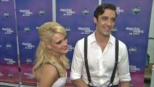 Gilles Marini and Peta Murgatroyd talk to OTRC.com after the November 5, 2012 episode of Dancing With The Stars. - Provided courtesy of ABC