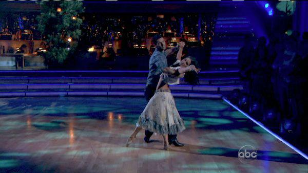 Melissa Rycroft and Tony Dovolani appear in a still from 'Dancing With The Stars: All-Stars' on October 29, 2012.