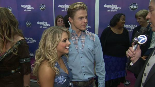Shawn Johnson, Derek Hough talk 'DWTS' week 6
