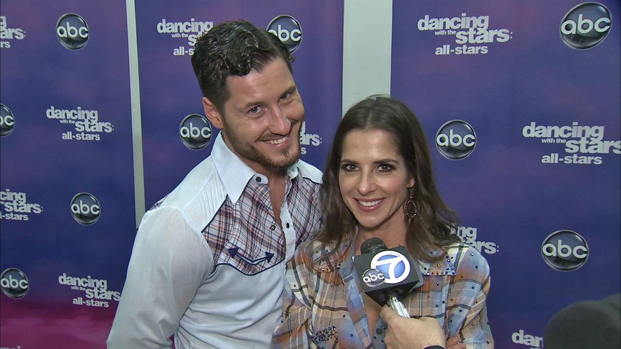 Kelly Monaco and Valentin Chmerkovskiy talk to OTRC.com after the October 29, 2012 episode of Dancing With The Stars.
