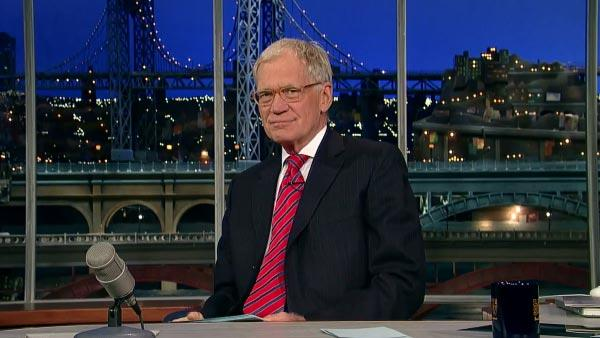 David Letterman appears on The Late Show with David Letterman on CBS on Oct. 29, 2012. - Provided courtesy of CBS / Worldwide Pants