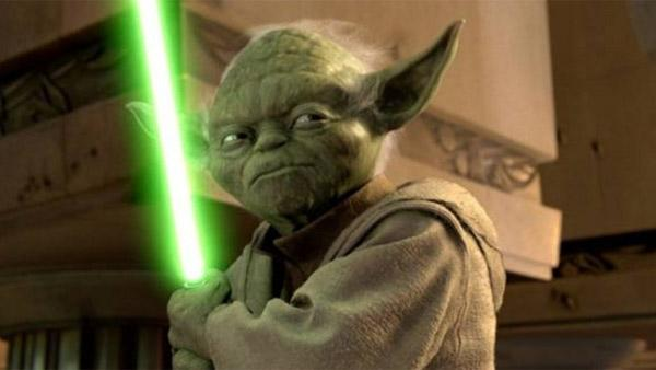Yoda appears in a scene from the movie Star Wars: Episode II - Attack Of The Clones. - Provided courtesy of Lucasfilm