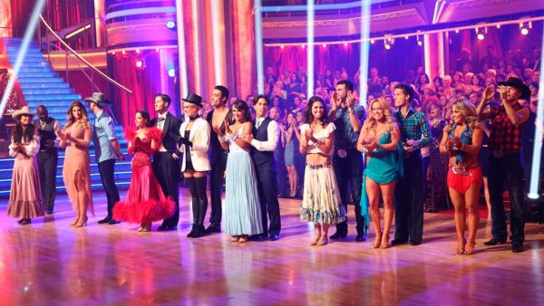 The cast appears in a still from week 6 of Dancing With The Stars: All-Stars, which aired on October 29, 2012. - Provided courtesy of ABC / Adam Taylor
