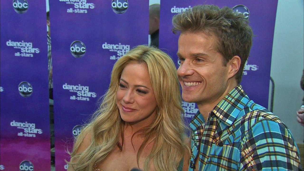Sabrina Bryan and Louis Van Amstel talk to OTRC.com after the Oct. 30, 2012 episode of Dancing With The Stars.