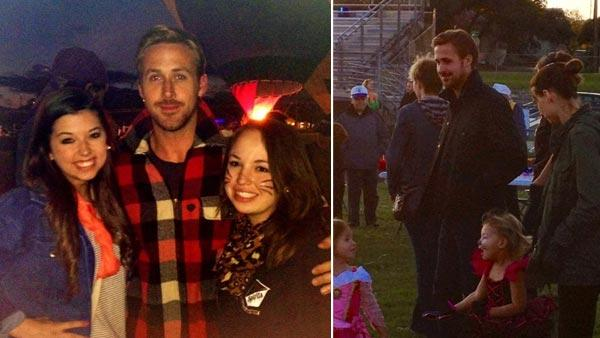 Ryan Gosling and fans appears at a charity event for the School for the Death in Austin, Texas on October 27, 2012, in photos posted on Ghada Soufans Twitter page. - Provided courtesy of Twitter.com/ghadamaysoufan