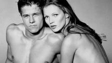 Kate Moss and Mark Wahlberg appear in a 1992 Calvin Klein ad. - Provided courtesy of Photo courtesy of Calvin Klein