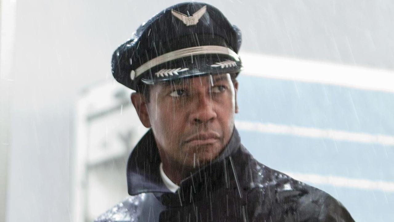 Denzel Washington appears in a scene from the 2012 film Flight.