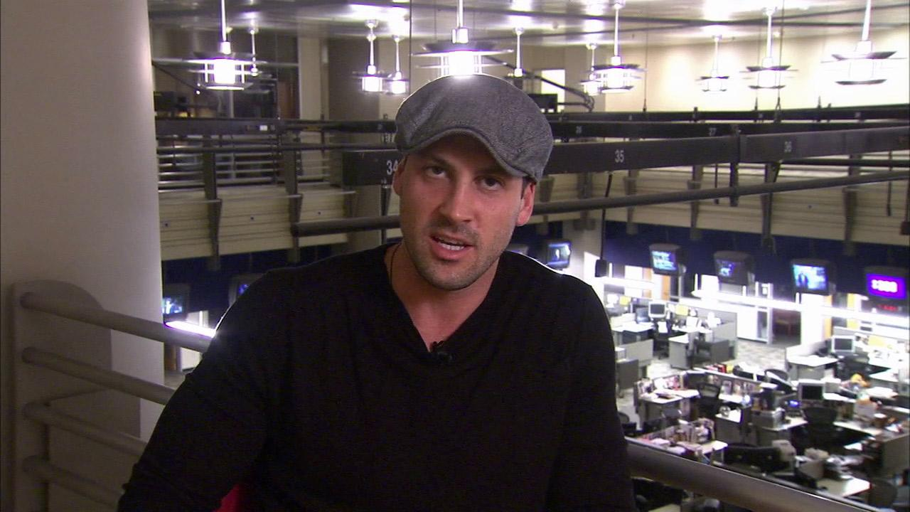 Maksim Chmerkovskiy talks to OTRC.com at its headquarters at KABC-TV in Los Angeles on Oct. 26, 2012.