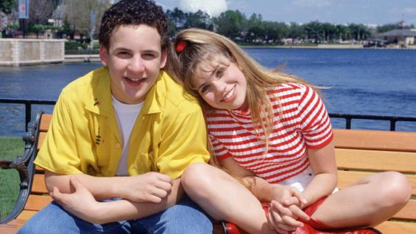 Ben Savage and Danielle Fishel appear in a promotional photo for Boy Meets World. - Provided courtesy of ABC