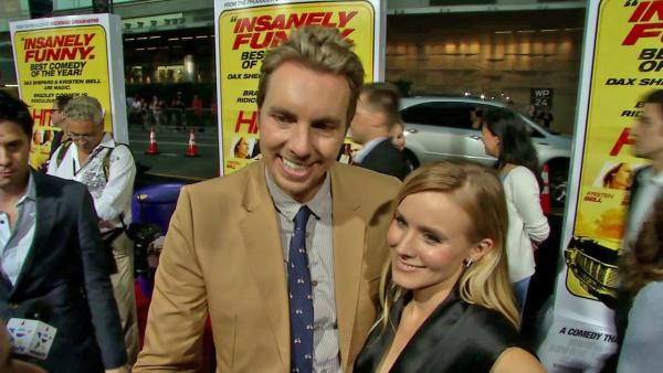 Dax Shepard and Kristen Bell appear at the premiere of 'Hit and Run' in Los Angeles on Aug. 14, 2012.