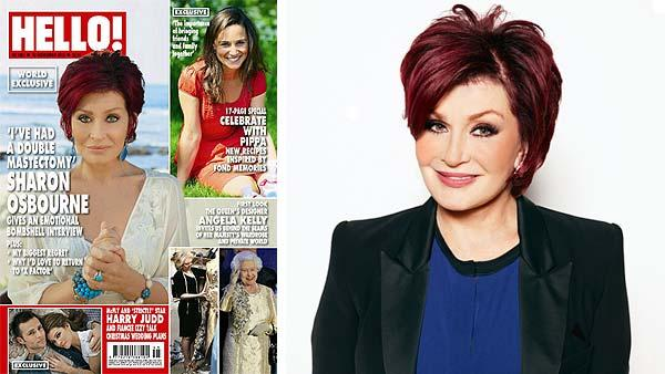 Sharon Osbourne appears on the cover of Hello! magazine in November 2012. / Sharon Osbourne appears in a 2012 publicity photo for the CBS daytime show The Talk. - Provided courtesy of Hello magazine / James White / CBS