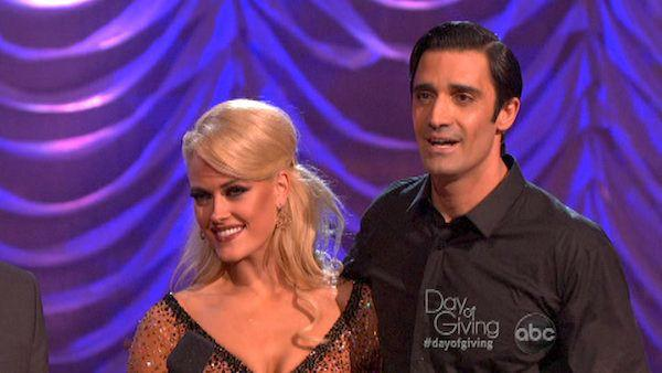 Gilles Marini and Peta Murgatroyd appear in a still from 'Dancing With The Stars: All-Stars' on November 5, 2012.