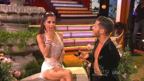 Kelly Monaco and Valentin Chmerkovskiy appear in a still from 'Dancing With The Stars: All-Stars' on November 5,