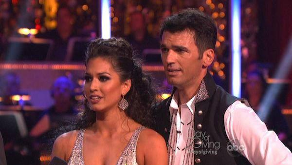 Melissa Rycroft and Tony Dovolani appear in a still from 'Dancing With The Stars: All-Stars' on November 5, 2012.