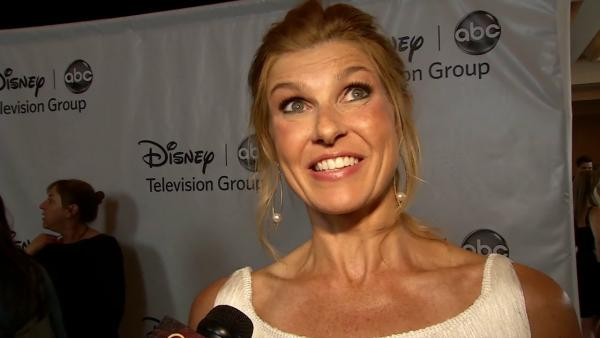 Connie Britton talks to OnTheRedCarpet.com at ABC's Television Critics Association party on July 27, 2012.
