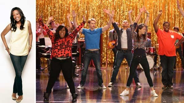 Aisha Tyler appears in a publicity photo for the CBS show The Talk. /  L-R: Mercedes (Amber Riley), Sam (Chord Overstreet), Jake (Jacob Artist), Marley (Melissa Benoist) and Unique (Alex Newell) performing on Glee on Nov. 8, 2012. - Provided courtesy of James White / CBS / Mike Yarish / FOX