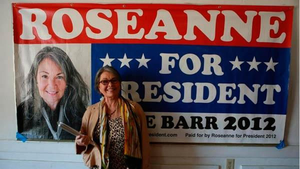 Roseanne Barr appears in a Roseanne For President campaign photo posted on her Facebook page on May 4, 2012. - Provided courtesy of facebook.com/RoseanneForPresident