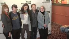 (L to R): Judy Greer, Josh Hamilton, Katie Holmes, Norbert Leo Butz and Jayne Houdyshell attend the Dead Accounts Broadway cast photocall at Sardis in New York City on Oct. 12, 2012. - Provided courtesy of Dead Accounts / Music Box Theatre