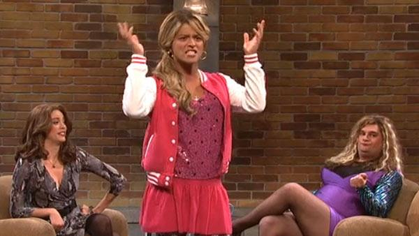 Bruno Mars appears on NBCs Saturday Night Live on Oct. 20, 2012. In this skit, titled Haters, he dressed up as a teenage girl. - Provided courtesy of NBC