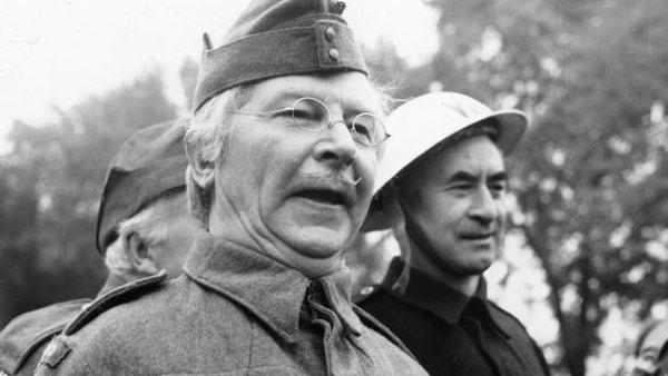 Clive Dunn appears in a still from the 1970's TV series, 'Dad's Army.'