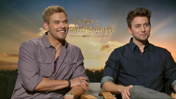 Jackson Rathbone and Kellan Lutz on 'Breaking Dawn'