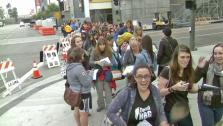 Twilight fans are shown in downtown Los Angeles on Thursday, Nov. 8, 2012. - Provided courtesy of KABC