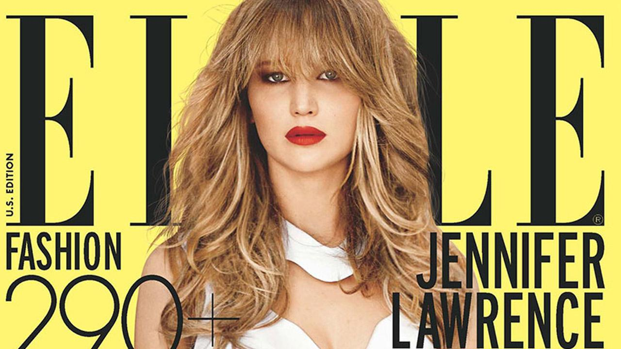Jennifer Lawrence appears on the December 2012 cover of Elle magazine.Elle magazine