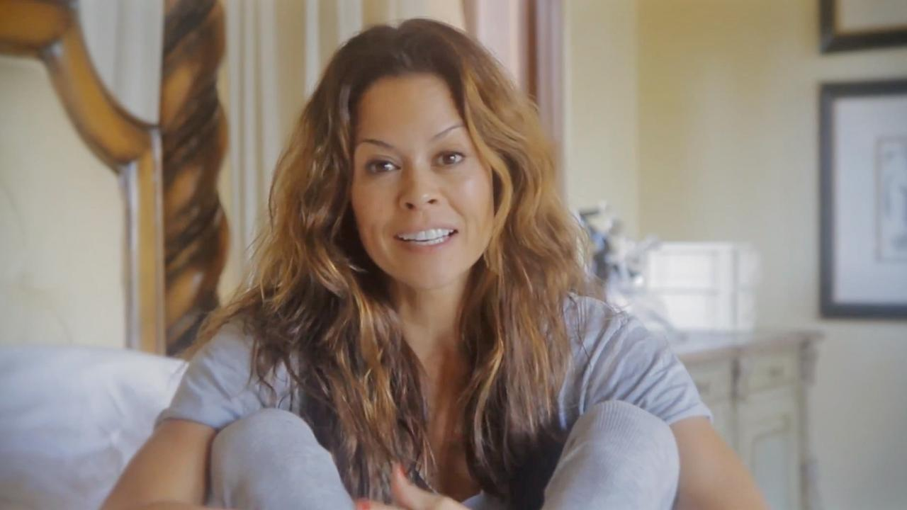 Brooke Burke-Charvet appears in a still from a YouTube video she posted on November 8, 2012.