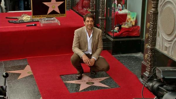 Javier Bardem receives Walk of Fame star