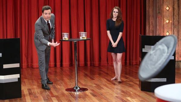 Kristen Stewart appears in a still from the Late Night with Jimmy Fallon show on November 7, 2012. - Provided courtesy of NBC / Peter Kramer