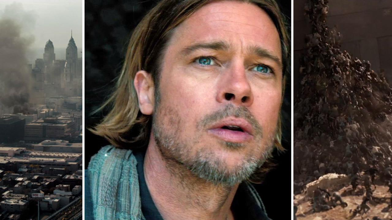 Brad Pitt appears in a scene from the 2013 movie World War Z.