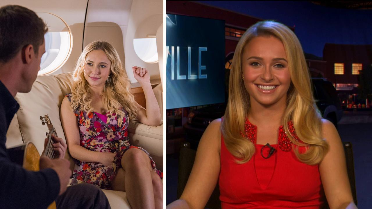 Hayden Panettiere and Tilky Montgomery Jones star in an episode of Nashville (air date: Nov. 14, 2012). /  Hayden Panettiere talks to OTRC.com and other outlets about ABCs Nashville on Nov. 7, 2012.