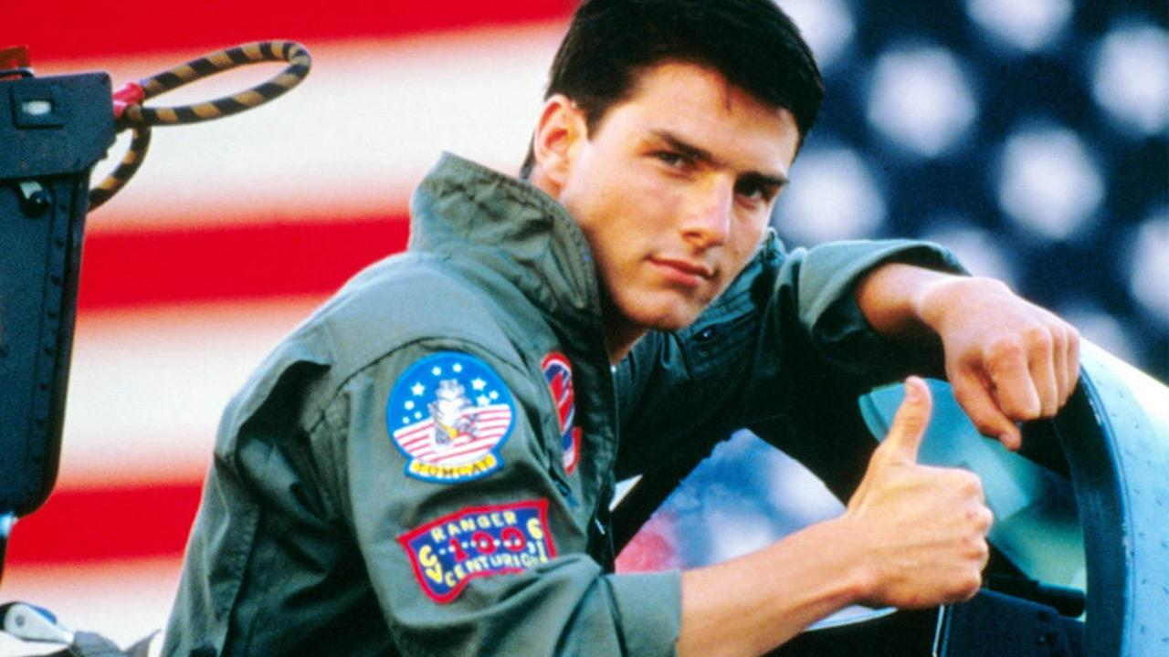Tom Cruise appears in a still from the 1986 film, Top Gun.